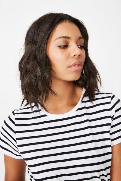 The Crew T Shirt, ELLA STRIPE WHITE/BLACK