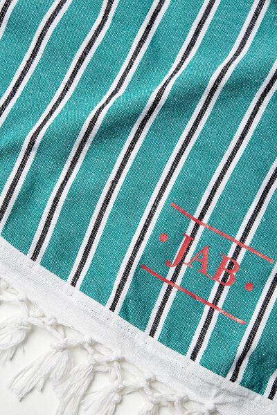 Tolve Round Beach Blanket, IVY STRIPE