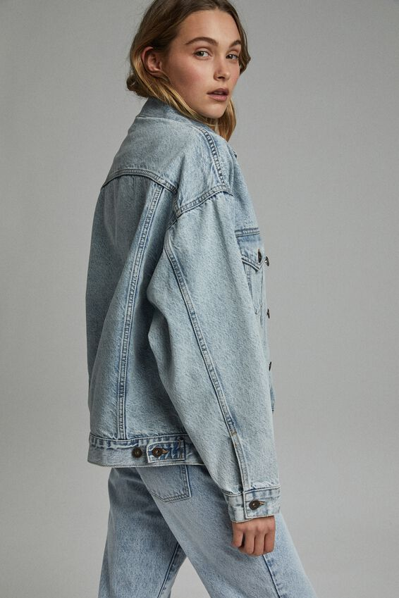 The Oversized Denim Jacket, AIREYS BLUE