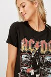 Classic Acdc T Shirt, LCN PER ACDC BLOW UP YOUR VIDEO/WASHED BLACK