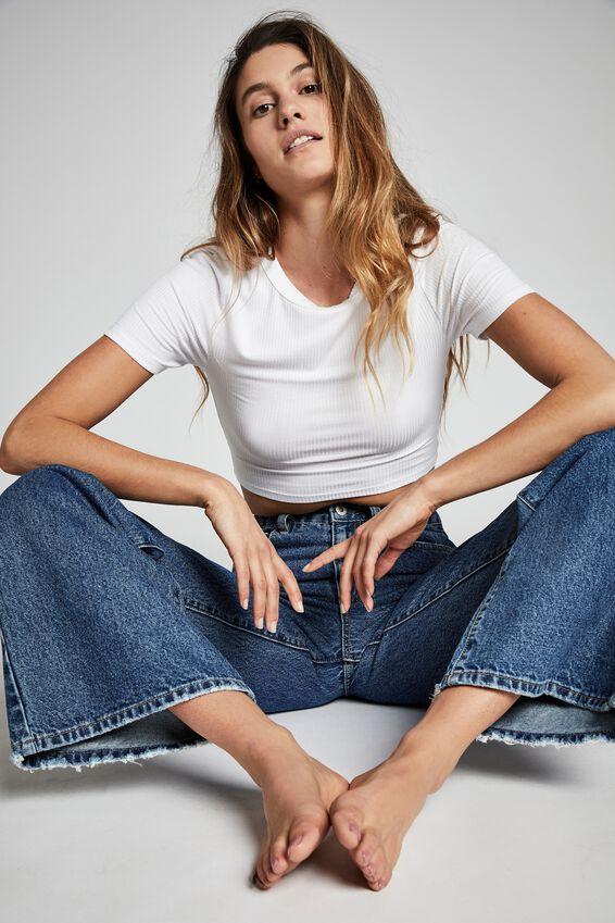 Long Wide Leg Jean, COOGEE BLUE