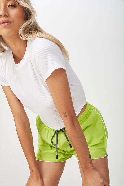 Becca Sporty Short, GREEN GLOW PIPING