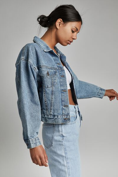 90 S Denim Jacket, JETTY BLUE