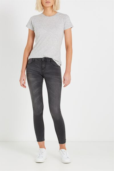 Mid Rise Jegging, FADED BLACK
