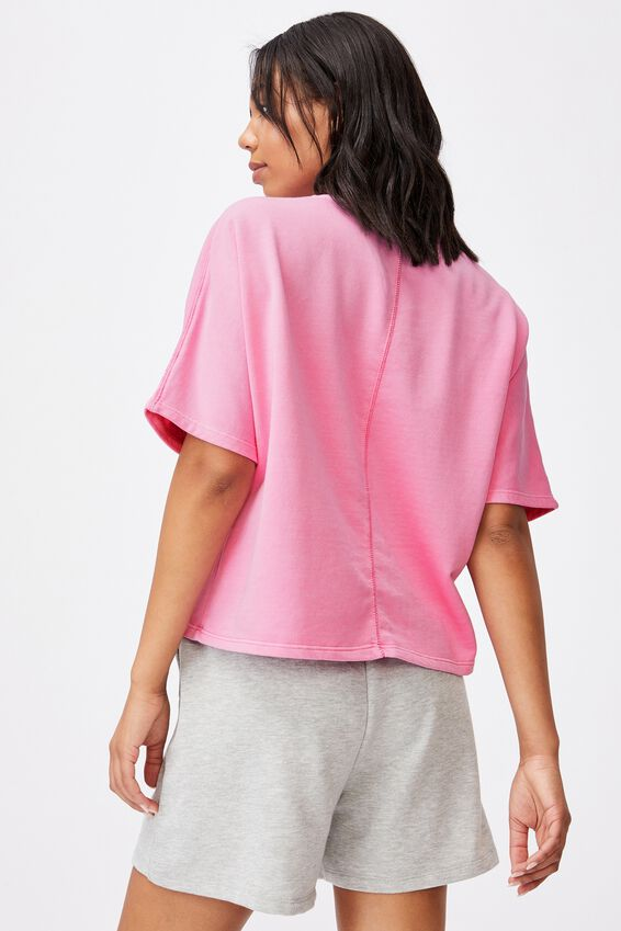Clubhouse Ss Fleece, CHERRY BLOSSOM GARMENT PIGMENT DYE