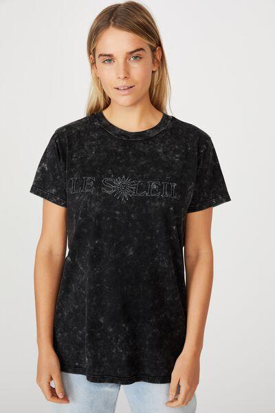 Classic Slogan T Shirt, LE SOLEIL/BLACK