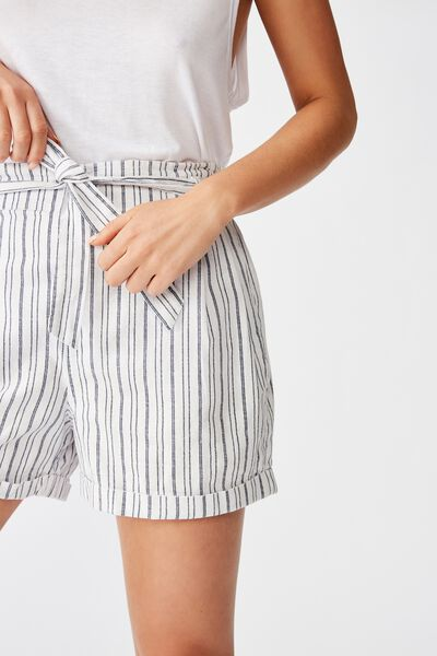Riley High Waist Short, ANGIE STRIPE MOOD INDIGO