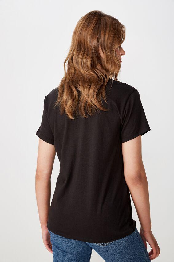 Classic Band T Shirt, LCN ARA PINK COLLAGE/WASHED BLACK