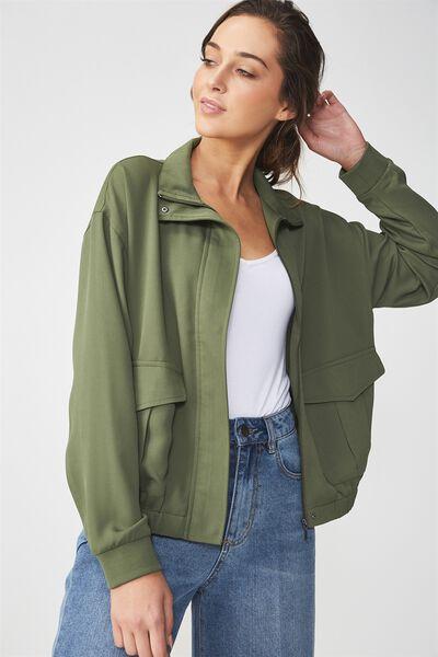Stella Soft Military Jacket, OLIVE