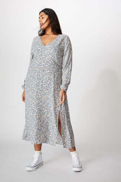 Curve Madie Midi Dress, LIZ MULTI FLORAL FLINTSTONE