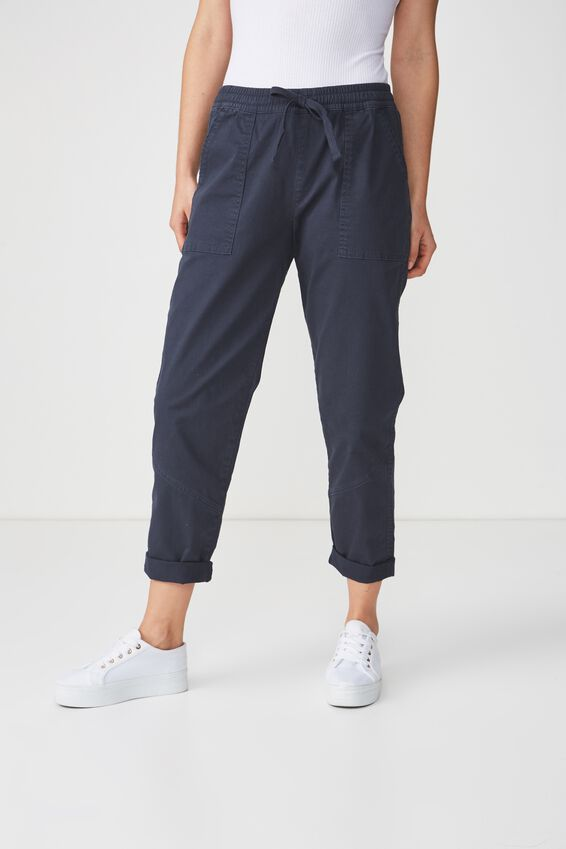 Rolled Hem Chino, WASHED NAVY