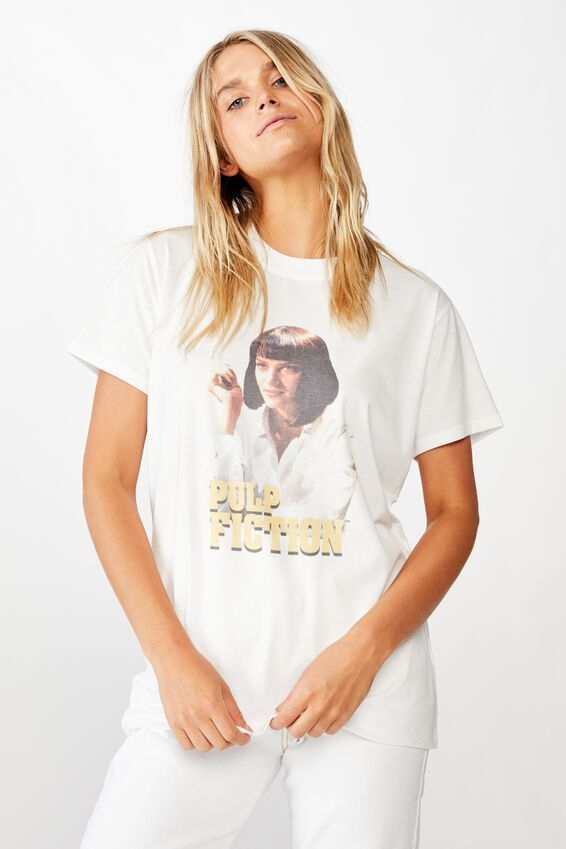 Classic Tv Movie T Shirt, LCN MIR PULP FICTION MIA/WHITE