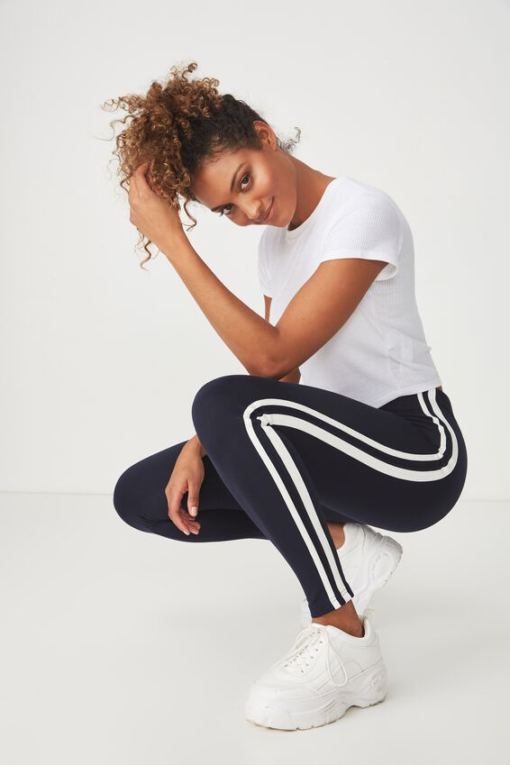 Dantea Legging, MOONLIGHT/WHITE DOUBLE STRIPE