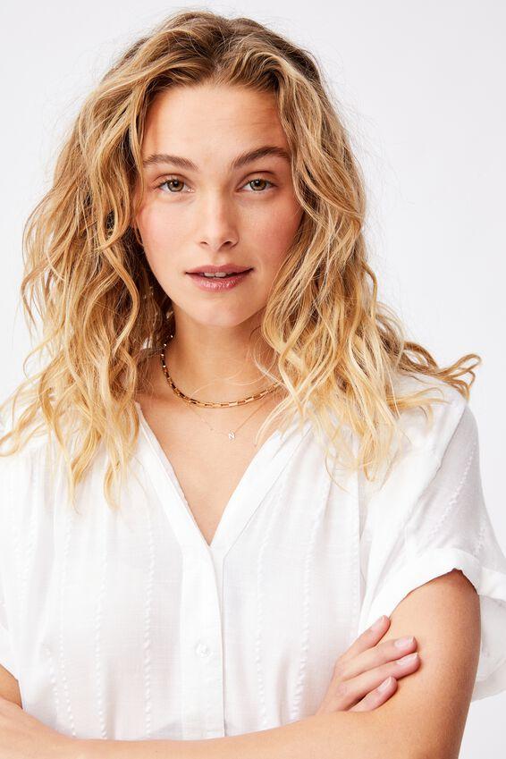 Lexi Tie Shirt, WHITE