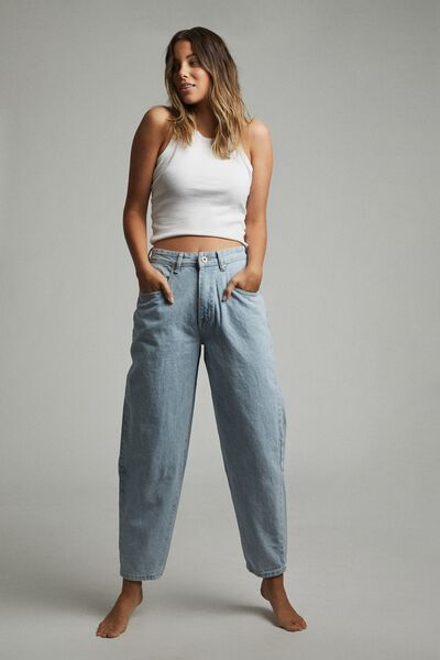 Slouch Mom Jean, ADDIS BLUE