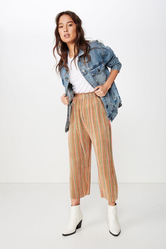 Paperbag Slinky Culotte, MAC STRIPE/SUNBURN