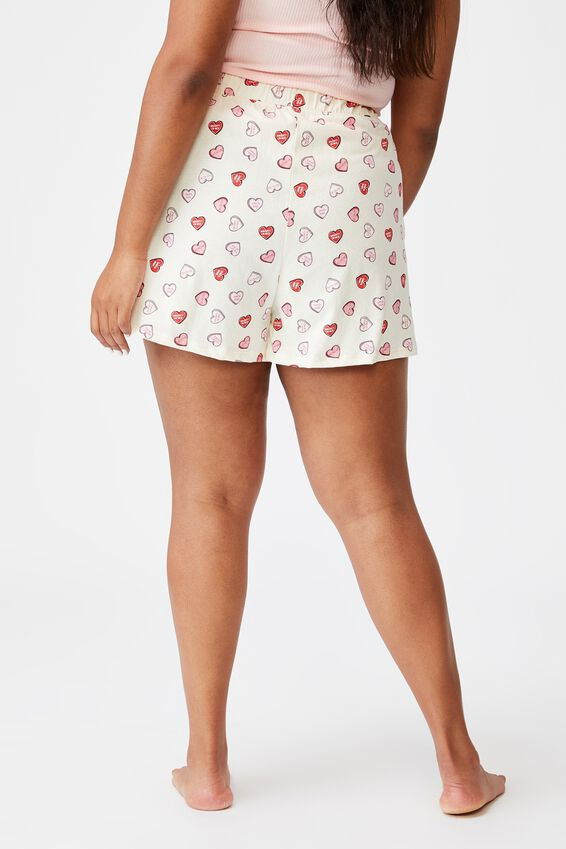 Curve Jersey Bed Short, SANTA CANDY/WHITE