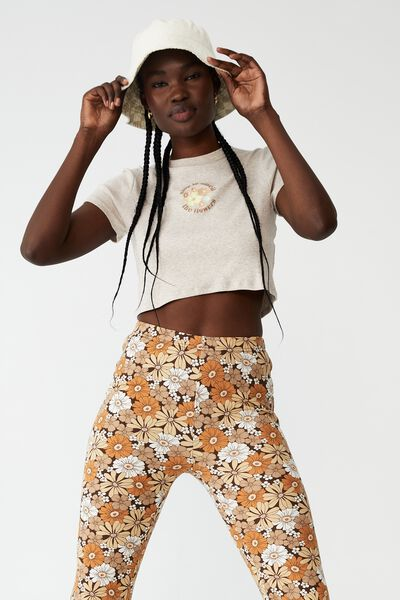 Micro Rib Baby Graphic Tee, SMELL THE FLOWERS/BARLEY MARLE