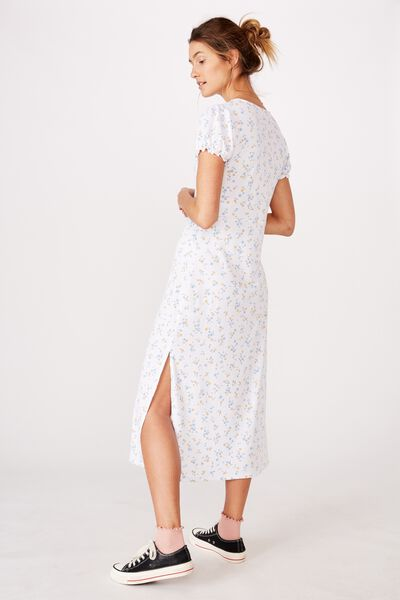 Mackayla Midi Dress, LAYLA DITSY WHITE