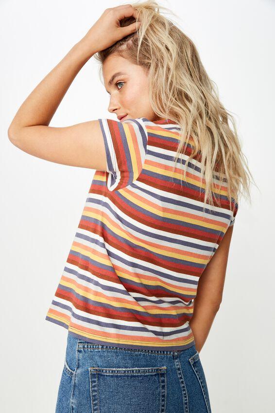 Essential Art T Shirt, 70S STRIPE/MULTI COLOUR STRIPE