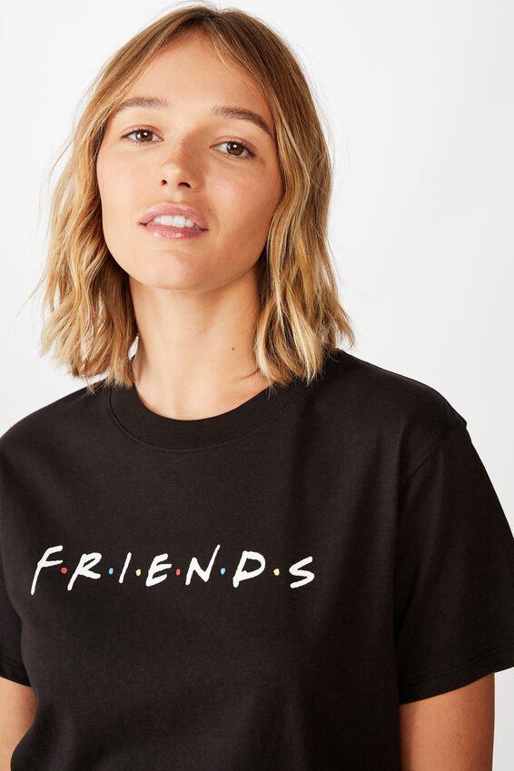 Classic Friends T Shirt, LCN WB FRIENDS LOGO/BLACK