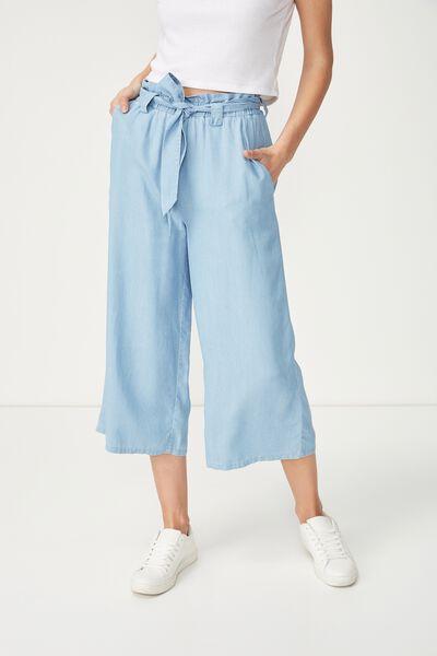 High Waist Culotte 2, MID BLUE