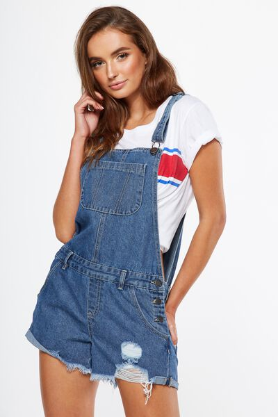 The Classic Overall, MID BLUE STONE RIOT HEM
