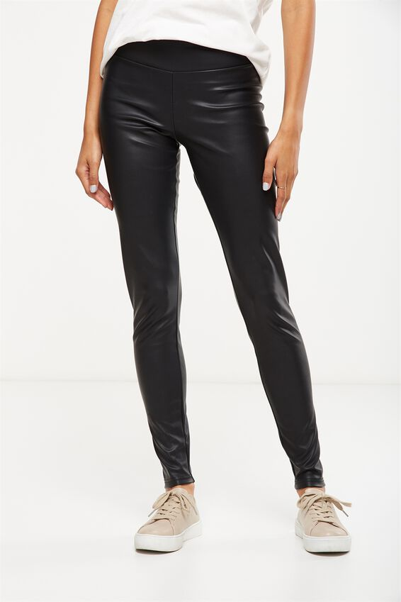 Dante Legging, BLACK PU