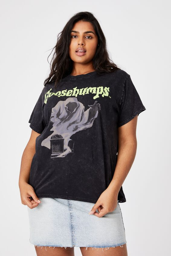 Curve Graphic License Tee, LCN SON GOOSEBUMPS/BLACK
