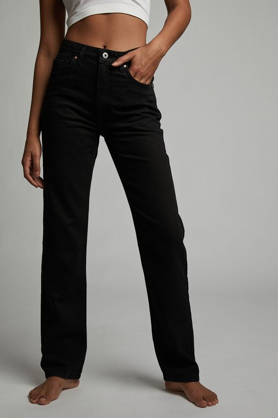 Long Straight Jean, BLACK