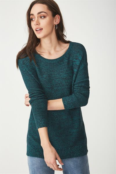 Archy 4 Pullover, TEAL GREEN MOONLIGHT TWIST