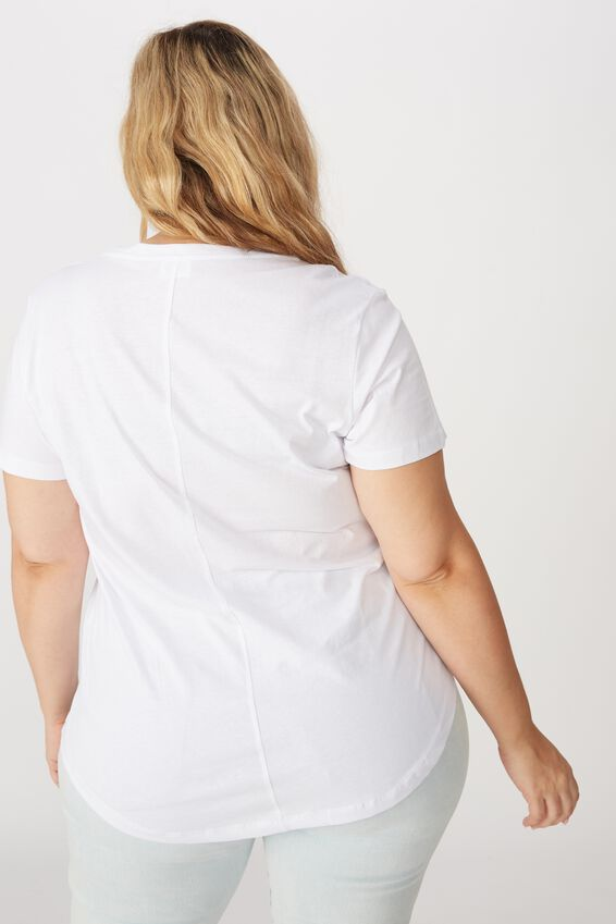 Curve The One Scoop Tee, WHITE