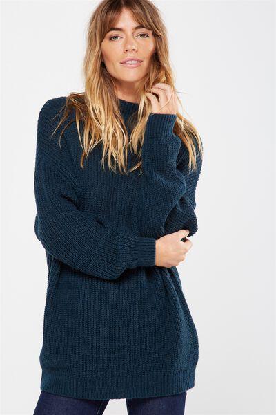 Willow Oversized Cozy Mock Neck Pullover, VELVETY GREEN