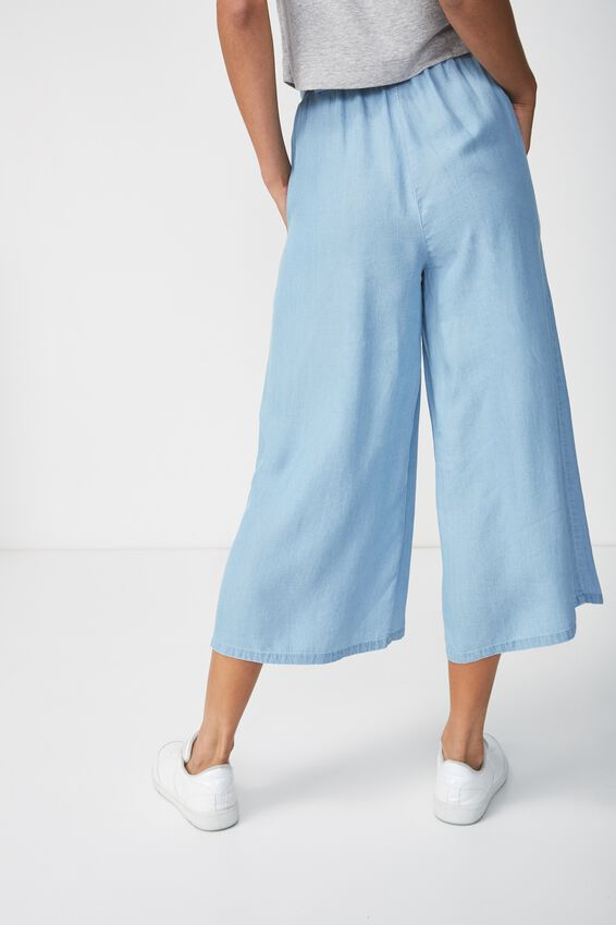 High Waist Culotte, MID BLUE