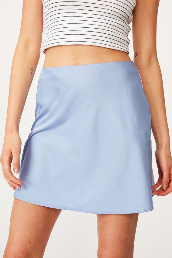 Simple Slip Mini Skirt, VINTAGE BLUE