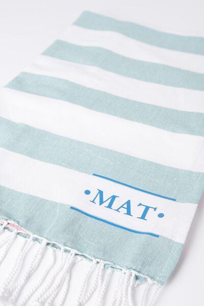 Tolve Turkish Towel, RUGBY STRIPE PASTELS