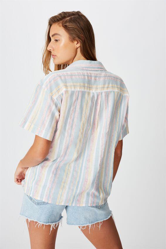 Oversize Resort Shirt, CASSIE STRIPE MULTI