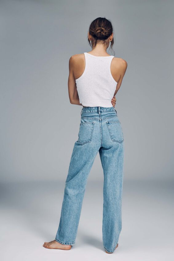 Petite Straight Jean, FLYNN BLUE