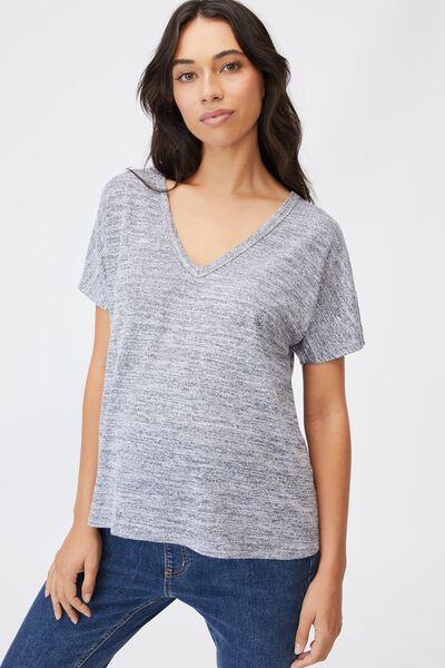 Maternity Karly Short Sleeve Top, GREY TWIST