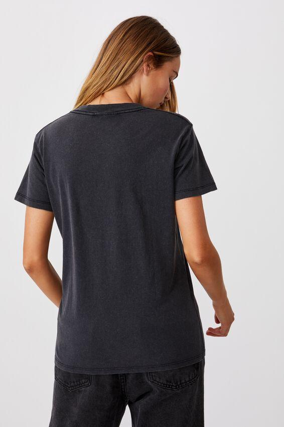 Classic Acdc T Shirt, LCN PER ACDC LIGHTNING ROCK/BLACK