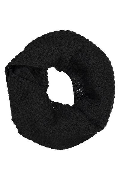 Cedar Knitted Snood, BLACK