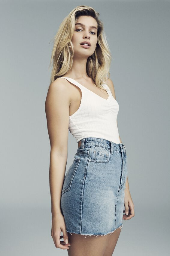 The Classic Denim Skirt, BOSTON BLUE