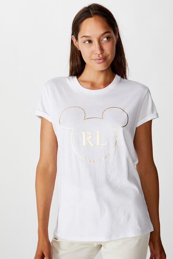 Classic Personalised Mickey T Shirt, CNY LCN DIS MICKEY HEAD CNY/WHITE