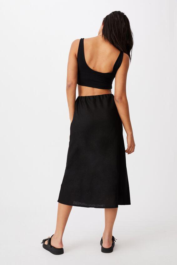 Sunset Lover Midi Skirt, BLACK