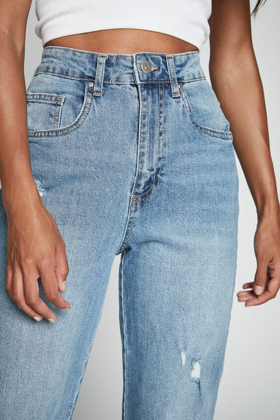 Straight Stretch Jean, BRONTE BLUE