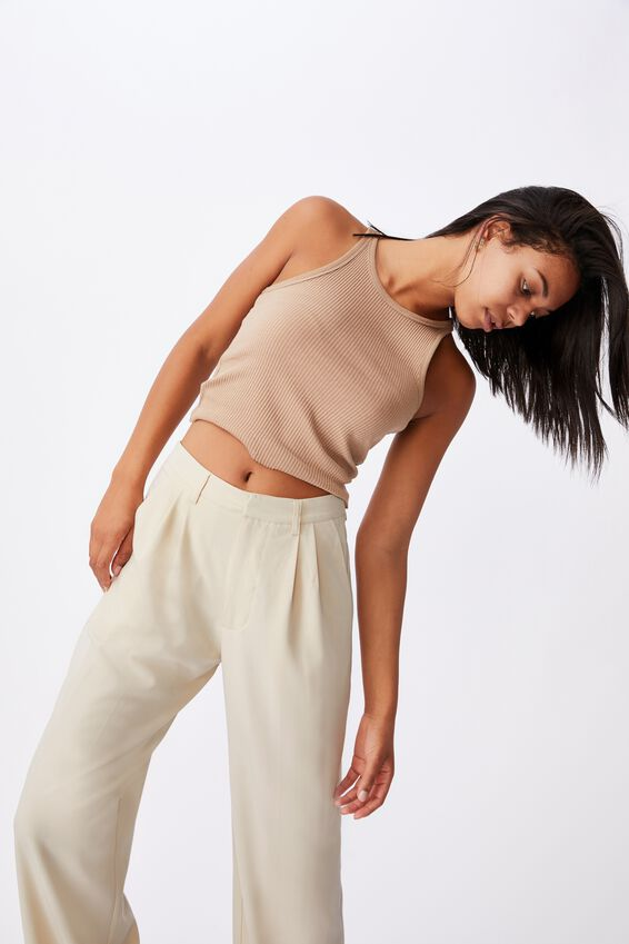 Jordan Oversized Pleat Pant, GREY MORN