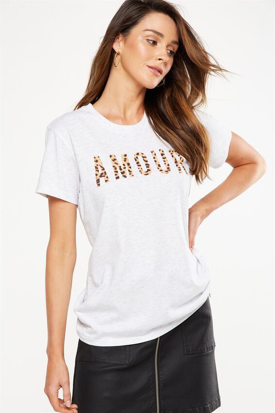 Tbar Fox Graphic T Shirt, AMOUR/SILVER MARLE