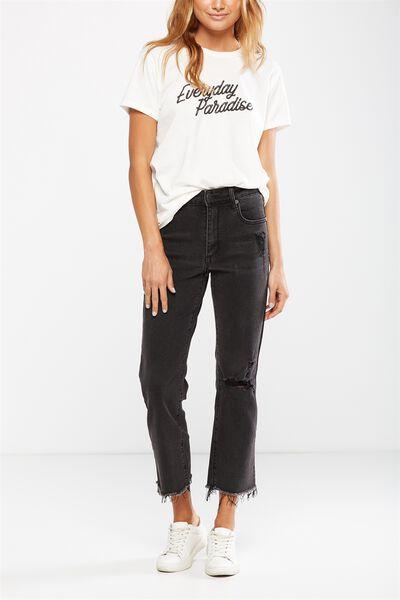 Mid Slim Straight Jean, BIRKIN BLACK RIPS