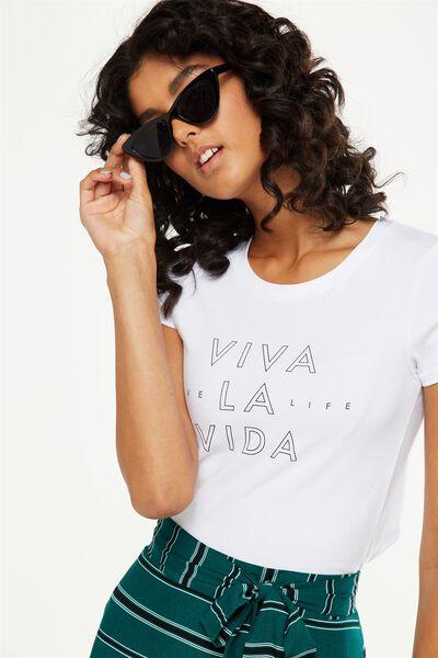 Tbar Hero Graphic T Shirt, VIVA LA VIDA/WHITE