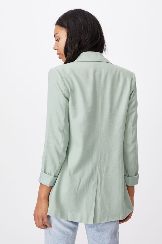 Ultimate Linen Blazer, LUSH GREEN